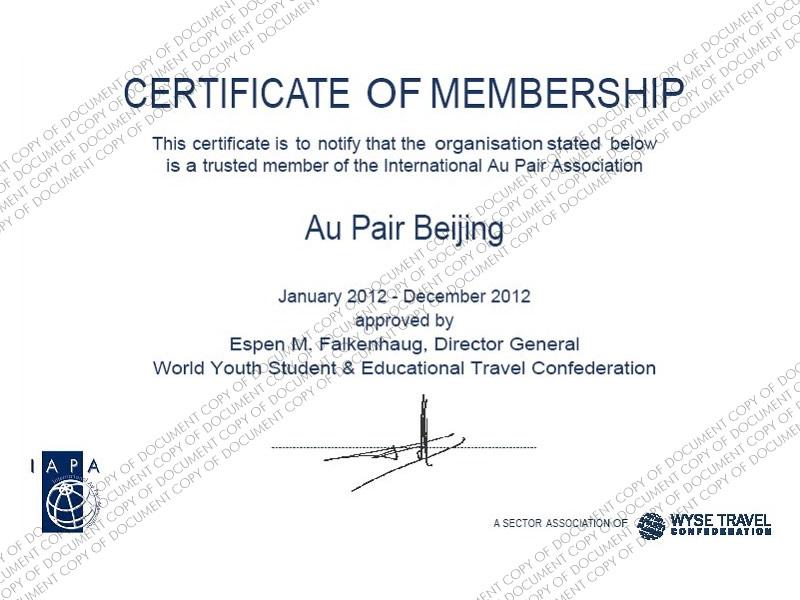 IAPA Membership 2011