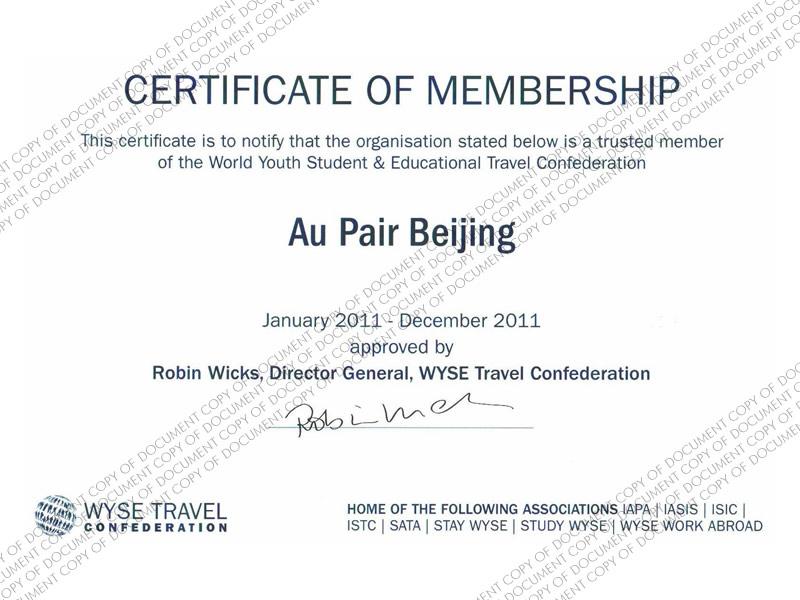 WYSE Membership 2012